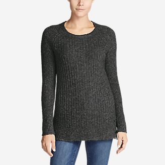 Women's Aurora Long Pullover Sweater in Gray