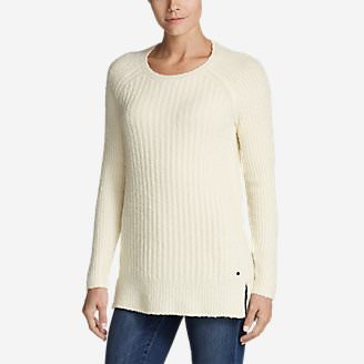 Women's Aurora Long Pullover Sweater in White