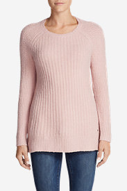 Women's Aurora Long Pullover Sweater in Red