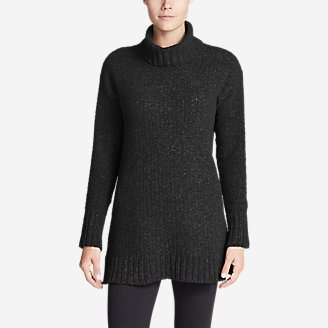 Women's Lounge Around Turtleneck Sweater in Black