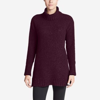 Women's Lounge Around Turtleneck Sweater in Purple