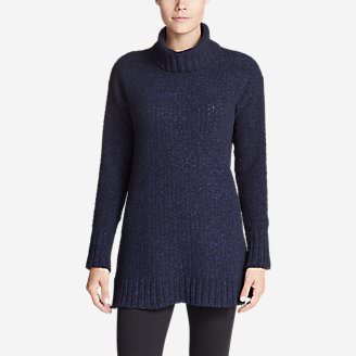 Women's Lounge Around Turtleneck Sweater in Blue