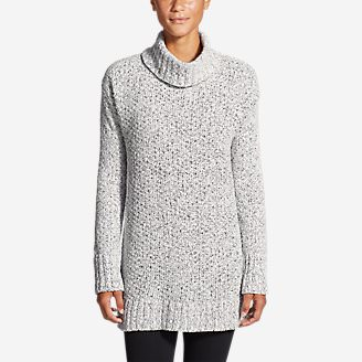 Women's Lounge Around Turtleneck Sweater in White