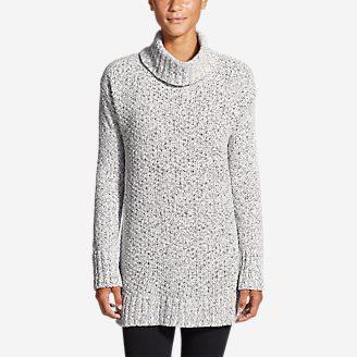 Women's Lounge Around Turtleneck Sweater in White