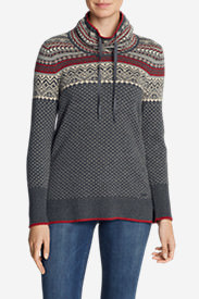 Women's Oslo Funnel Neck Sweater in Gray