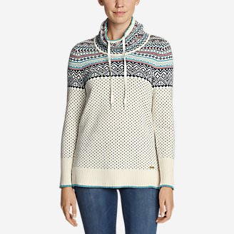 Women's Oslo Funnel Neck Sweater in White