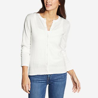 Women's Christine Tranquil Cardigan Sweater in White