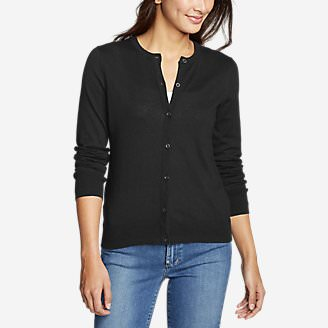 Women's Christine Tranquil Cardigan Sweater in Black