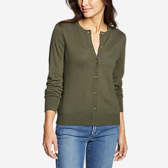 Women's Christine Tranquil Cardigan Sweater in Green