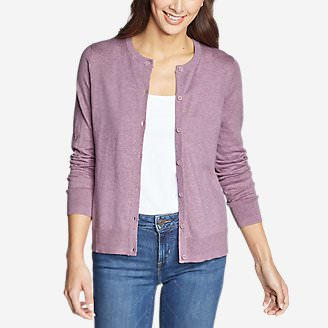 Women's Christine Tranquil Cardigan Sweater in Purple