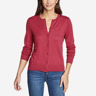 Women's Christine Tranquil Cardigan Sweater in Red