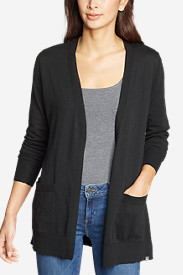 Women's Christine Tranquil Long-Sleeve Boyfriend Cardigan in Black