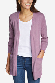 Women's Christine Tranquil Long-Sleeve Boyfriend Cardigan in Purple