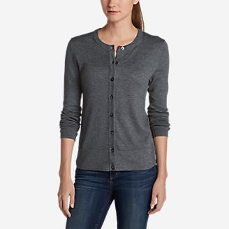 Women's Christine Cardigan Sweater - Solid in Gray