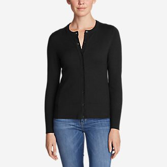 Women's Christine Cardigan Sweater - Solid in Black