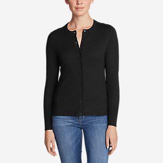 Women's Christine Cardigan Sweater - Solid in Black