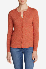 Women's Christine Cardigan Sweater - Solid in Orange