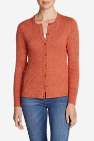 Women's Christine Cardigan Sweater - Solid in Orange