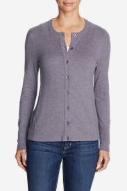 Women's Christine Cardigan Sweater - Solid in Purple