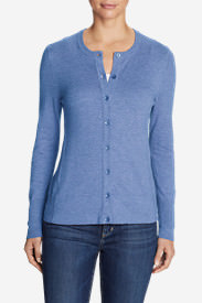 Women's Christine Cardigan Sweater - Solid in Blue