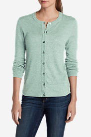 Women's Christine Cardigan Sweater - Solid in Green