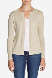 Women's Christine Cardigan Sweater - Solid in Beige