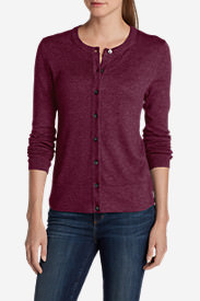 Women's Christine Cardigan Sweater - Solid in Red