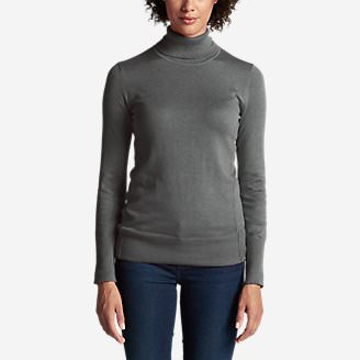 Women's Christine Turtleneck Sweater in Gray