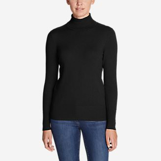 Women's Christine Turtleneck Sweater in Black