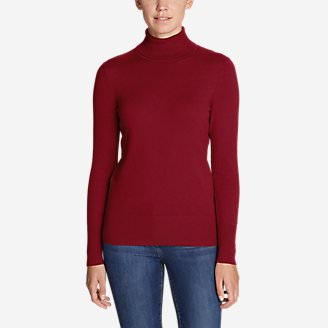 Women's Christine Turtleneck Sweater in Red