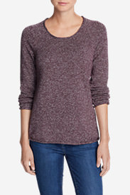 Women's Sweatshirt Sweater - Marl in Purple