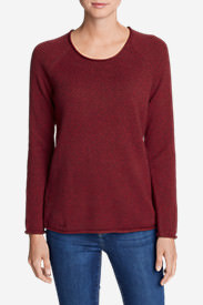 Women's Sweatshirt Sweater - Marl in Red