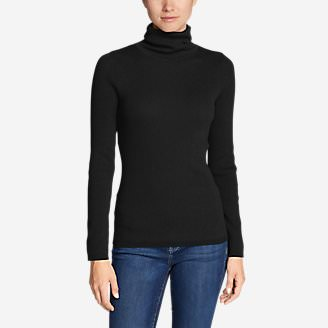 Women's Medina Turtleneck Sweater in Black