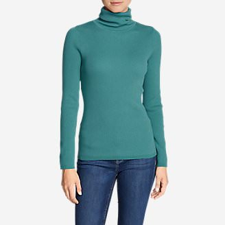 Women's Medina Turtleneck Sweater in Blue