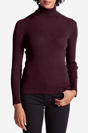 Women's Medina Turtleneck Sweater in Purple