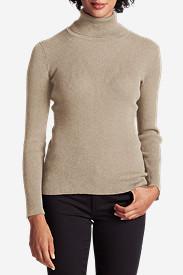 Women's Medina Turtleneck Sweater in Beige