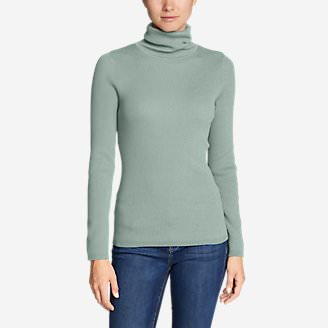 Women's Medina Turtleneck Sweater in Green