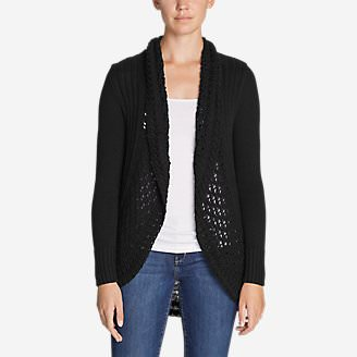 Women's Peakaboo Cardigan Sweater in Black
