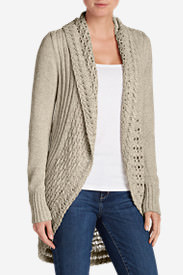 Women's Peakaboo Cardigan Sweater in Beige