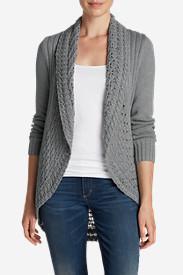 Women's Peakaboo Cardigan Sweater in Gray