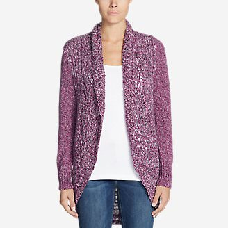 Women's Peakaboo Cardigan Sweater in Purple