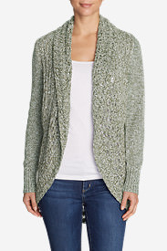 Women's Peakaboo Cardigan Sweater in Green