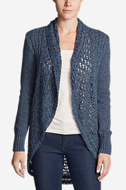 Women's Peakaboo Cardigan Sweater in Blue