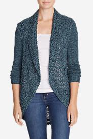 Women's Peakaboo Cardigan Sweater in Blue