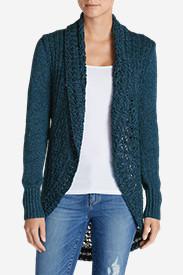 Women's Peakaboo Cardigan Sweater in Green