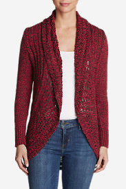 Women's Peakaboo Cardigan Sweater in Red