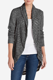 Women's Peakaboo Cardigan Sweater in Gray