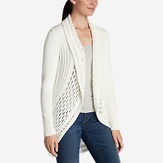 Women's Peakaboo Cardigan Sweater in White