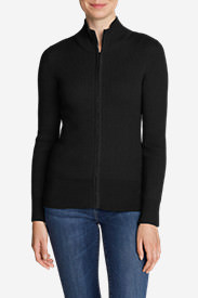 Women's Medina Zip Cardigan Sweater in Black