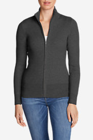 Women's Medina Zip Cardigan Sweater in Gray